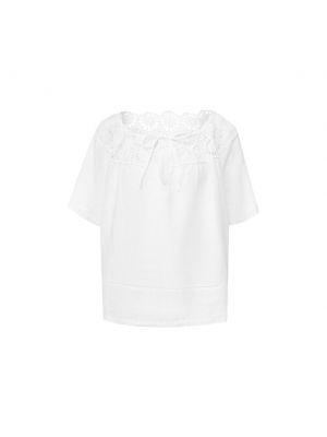 Белый кожаный топ 120% Lino