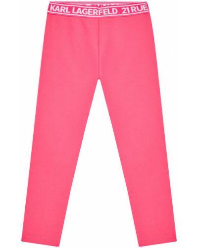 Różowe legginsy Karl Lagerfeld