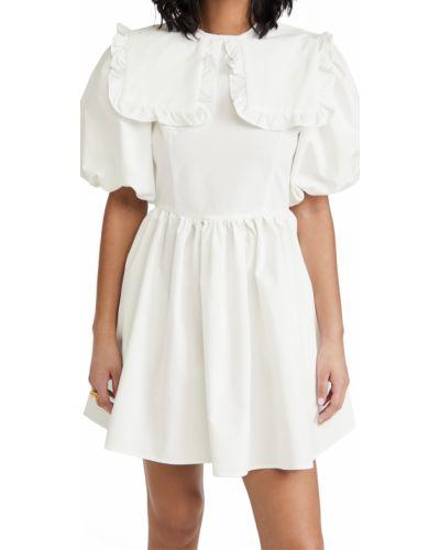 Бежевое платье мини с декольте с воротником Sister Jane