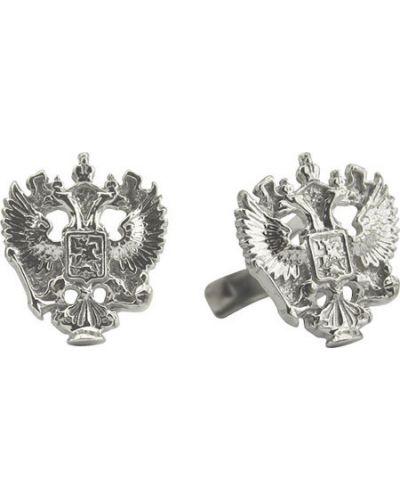 Запонки из серебра серебряный F.it
