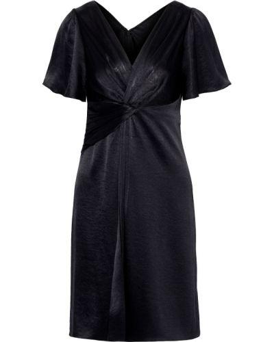 Сатиновое черное платье на крючках Elie Tahari