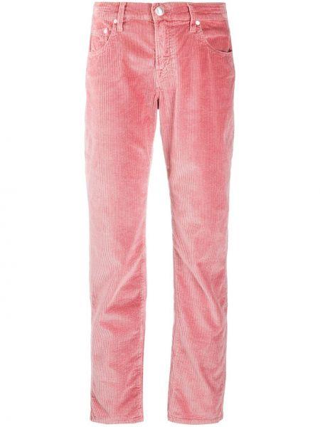 Прямые классические брюки вельветовые с карманами Jacob Cohen