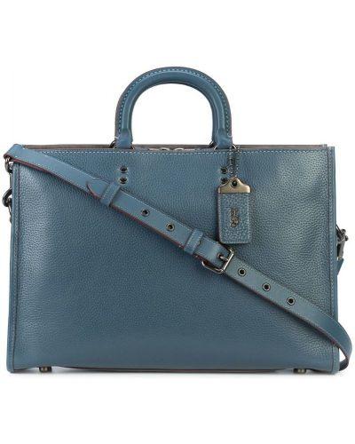 Портфель кожаный синий Coach