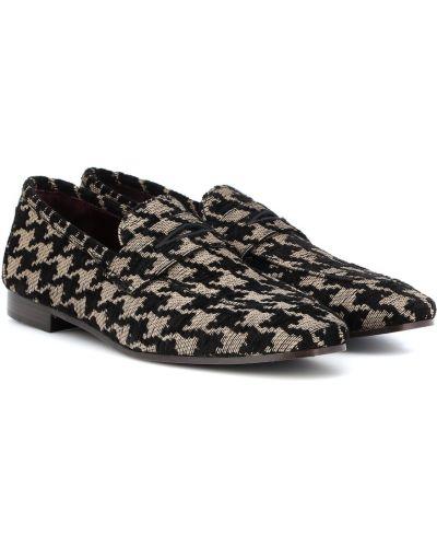 Klasyczne czarne loafers skorzane Bougeotte