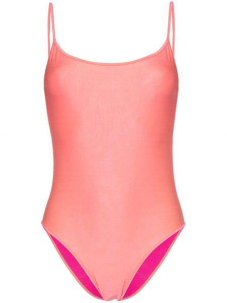 Плюшевый розовый слитный купальник с разрезом Ack
