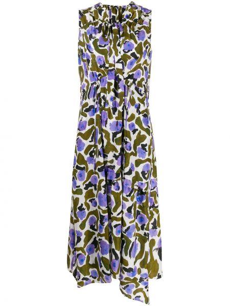 Платье миди с абстрактным принтом с рукавами Christian Wijnants