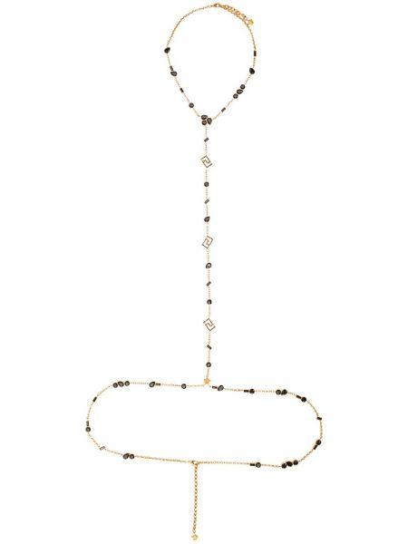 Золотистая желтая цепочка Versace