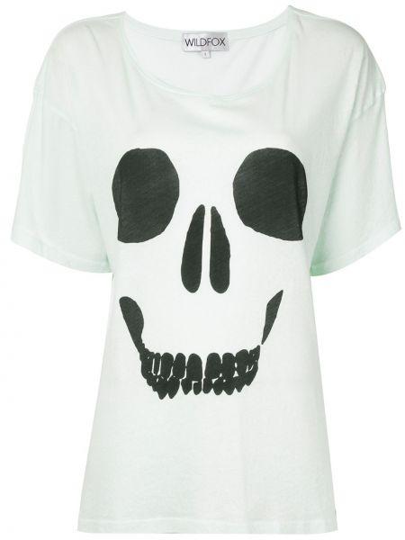 Czarny t-shirt bawełniany z printem Wildfox