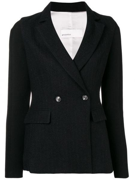 Черный классический пиджак с карманами Gentry Portofino