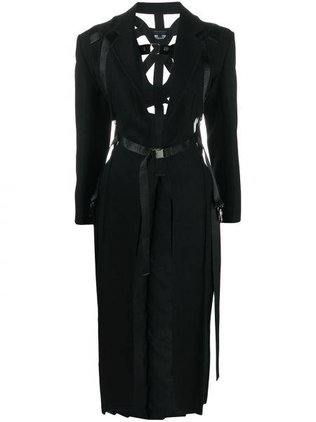 Klasyczny czarny płaszcz wełniany Junya Watanabe
