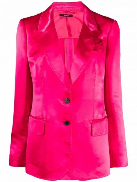 Однобортный розовый пиджак с карманами Tom Ford