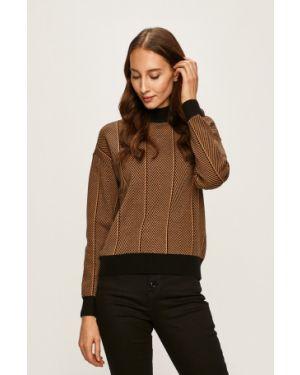 Sweter z wzorem z dekoltem Vero Moda