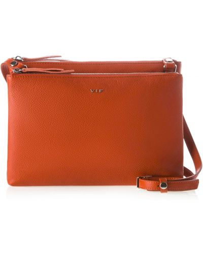 Кожаная сумка - оранжевая Vif