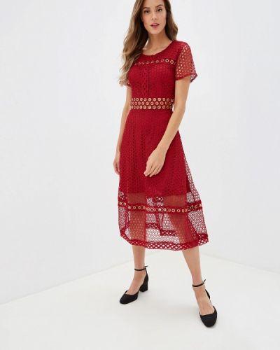Бордовое вечернее платье Danity