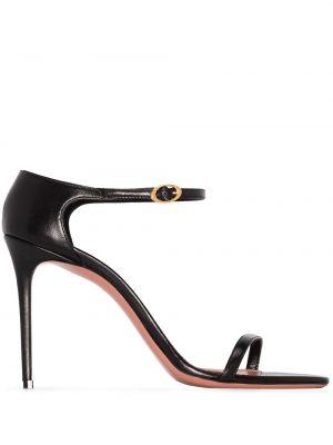 Кожаные сандалии - черные Amina Muaddi
