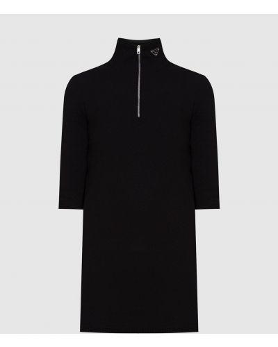 Черный свитер на молнии Prada