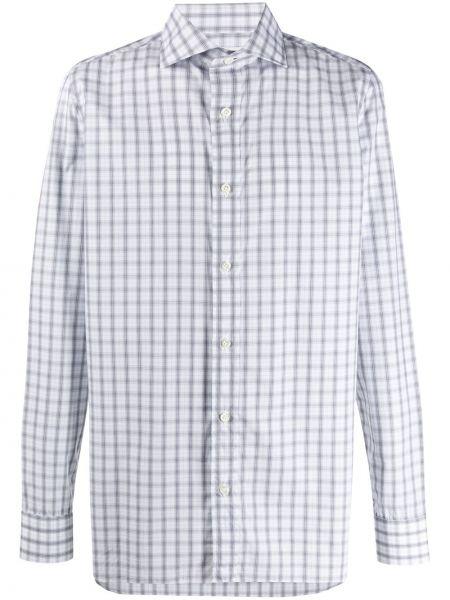 Белая рубашка свободного кроя на пуговицах с длинными рукавами Borrelli
