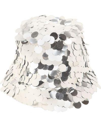 Серебряная шапка с пайетками с подкладкой Maison Michel