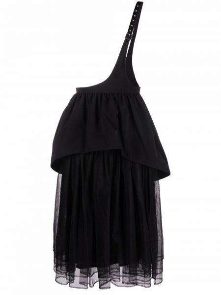 Юбка миди сетчатая - черная Comme Des Garçons Noir Kei Ninomiya