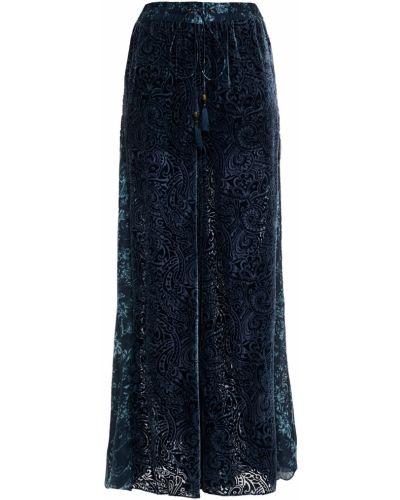 Шелковые брюки с карманами свободного кроя Camilla