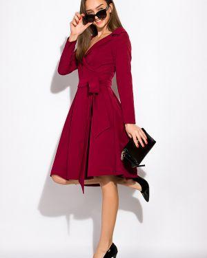 Платье с поясом с запахом классическое Time Of Style