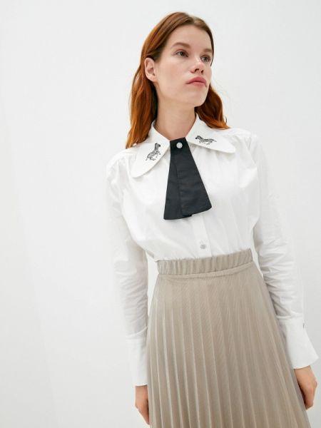 С рукавами белая блузка с длинным рукавом Sister Jane