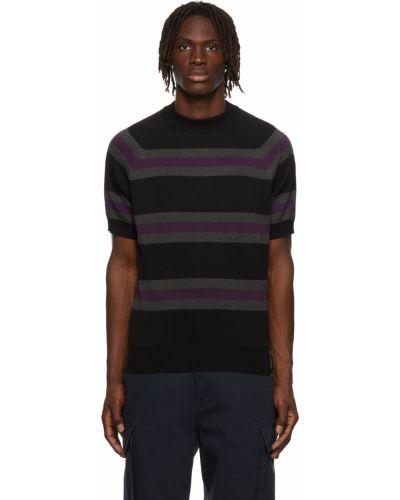 Sweter krótki rękaw - czarny Noah