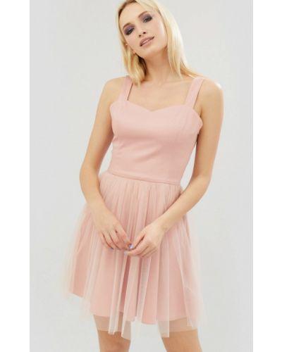 Розовое коктейльное платье Cardo
