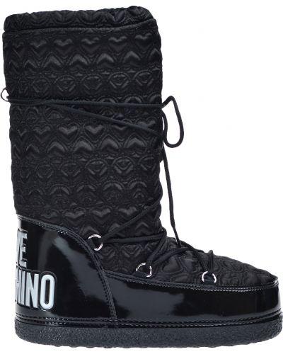 Черные угги Love Moschino