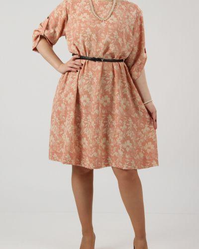 Платье с поясом на пуговицах персиковое Lacywear