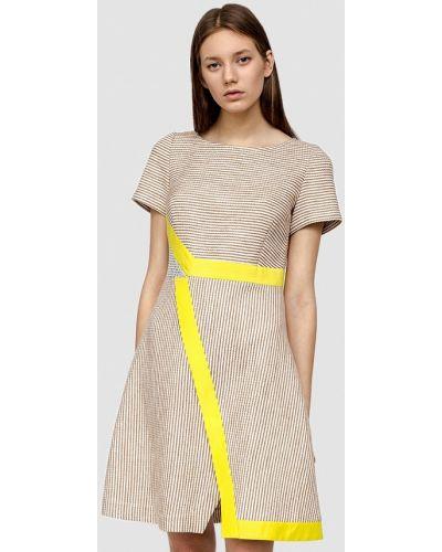 Повседневное платье весеннее бежевое Dolcedonna