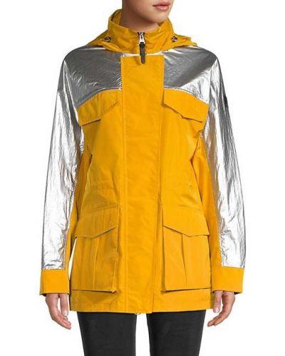 Длинная куртка с капюшоном на молнии с воротником Mackage