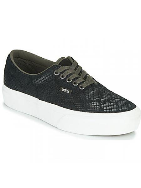 Szary buty na platformie Vans