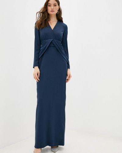 Синее вечернее платье Mango