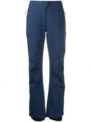 Прямые синие брюки на молнии Rossignol