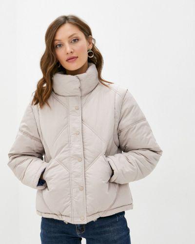 Бежевая теплая утепленная куртка Sela