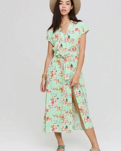 Платье рубашка - зеленое Cardo