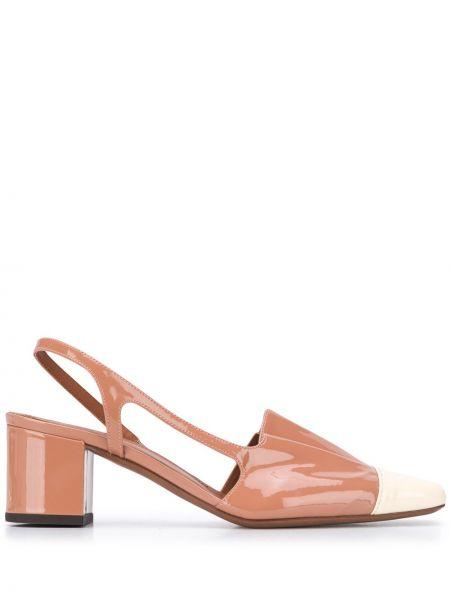 Розовые туфли-лодочки на каблуке с квадратным носком L'autre Chose