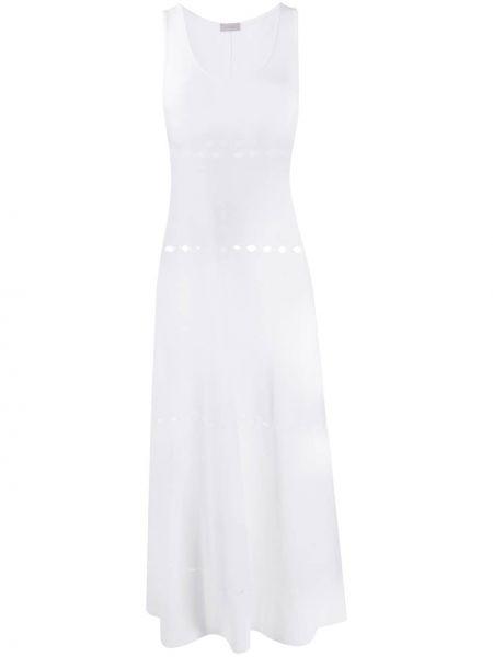 Белое платье миди без рукавов с вырезом Mrz