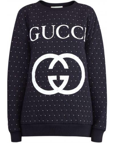 Свитшот трикотажный из футера Gucci