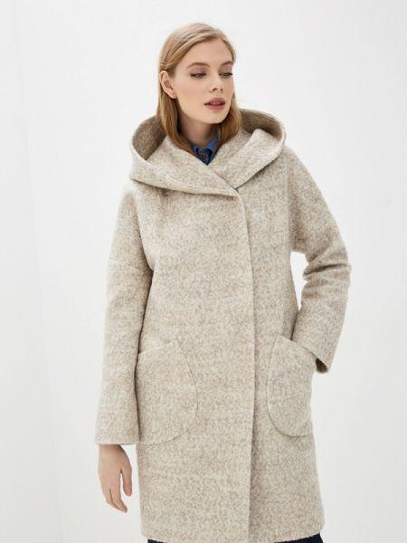 Бежевое пальто с капюшоном Paradox