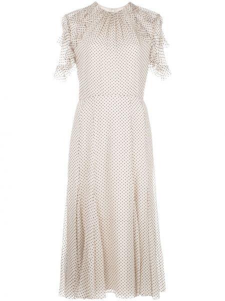 Расклешенное платье миди с оборками с вырезом на молнии Jason Wu Collection