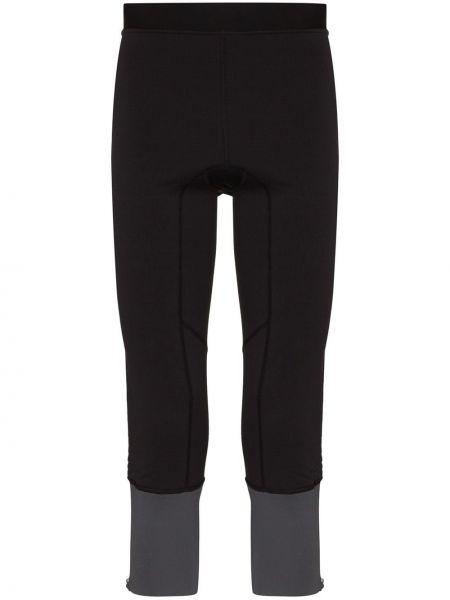 Черные укороченные брюки пэчворк Norrona