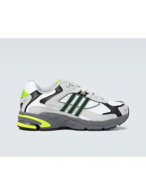 Biały skórzany sneakersy z siatką siatkowaty Adidas Originals