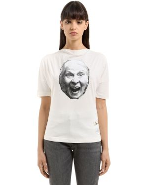 Хлопковая белая футболка с декольте Vivienne Westwood