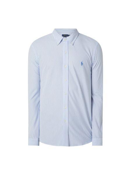 Puchaty biały koszula oxford z mankietami z paskami Polo Ralph Lauren