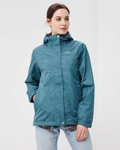 Зеленая куртка весенняя Five Seasons