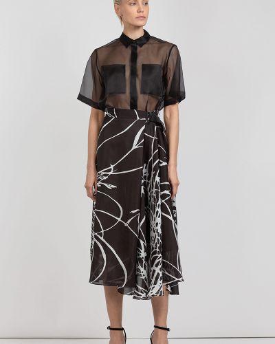 Блузка прямая шелковая Vassa&co