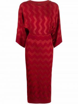 Шерстяное платье макси - красное Missoni