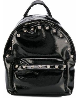 Лаковый черный рюкзак John Richmond Junior